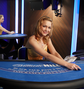Screenshot of a William Hill Blackjack Table